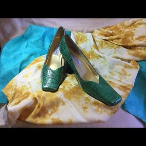 Women's Bellini Jade Green Pumps, Size 10M